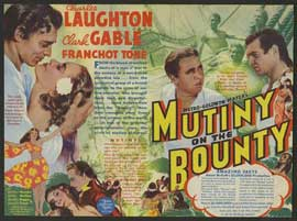 Mutiny on the Bounty - 27 x 40 Movie Poster - UK Style A