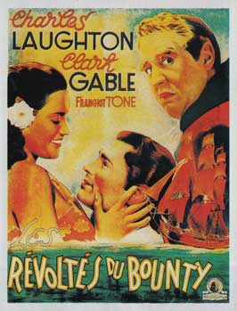 Mutiny on the Bounty - 11 x 17 Movie Poster - French Style A