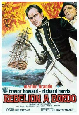 Mutiny on the Bounty - 27 x 40 Movie Poster - Spanish Style A