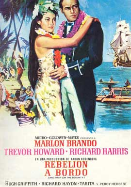 Mutiny on the Bounty - 27 x 40 Movie Poster - Spanish Style B