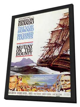 Mutiny on the Bounty - 27 x 40 Movie Poster - Style A - in Deluxe Wood Frame
