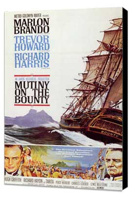 Mutiny on the Bounty - 11 x 17 Movie Poster - Style A - Museum Wrapped Canvas