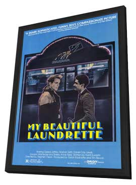 My Beautiful Laundrette - 27 x 40 Movie Poster - Style A - in Deluxe Wood Frame