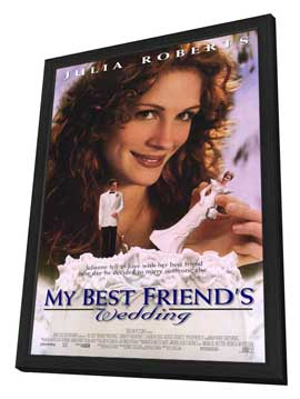 My Best Friend's Wedding - 11 x 17 Movie Poster - Style A - in Deluxe Wood Frame