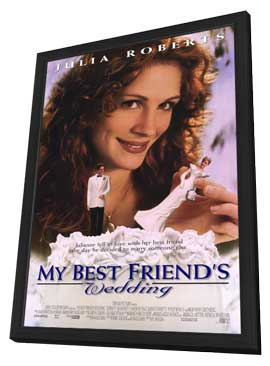 My Best Friend's Wedding - 27 x 40 Movie Poster - Style A - in Deluxe Wood Frame