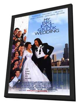 My Big Fat Greek Wedding - 11 x 17 Movie Poster - Style A - in Deluxe Wood Frame