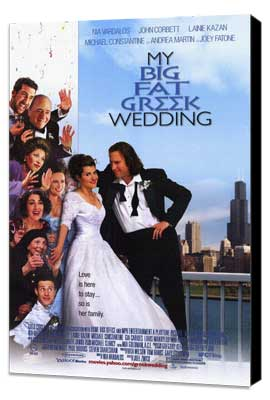 My Big Fat Greek Wedding - 11 x 17 Movie Poster - Style A - Museum Wrapped Canvas