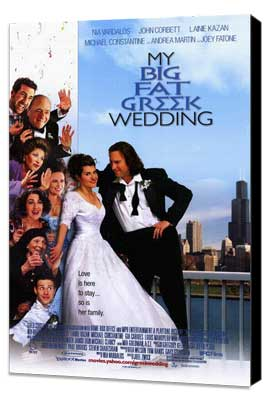 My Big Fat Greek Wedding - 27 x 40 Movie Poster - Style B - Museum Wrapped Canvas