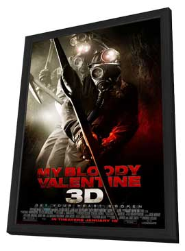 My Bloody Valentine 3-D - 11 x 17 Movie Poster - Style C - in Deluxe Wood Frame