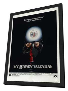 My Bloody Valentine - 27 x 40 Movie Poster - Style B - in Deluxe Wood Frame