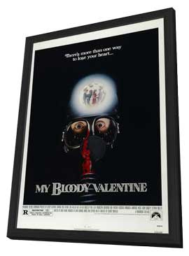 My Bloody Valentine - 11 x 17 Movie Poster - Style C - in Deluxe Wood Frame