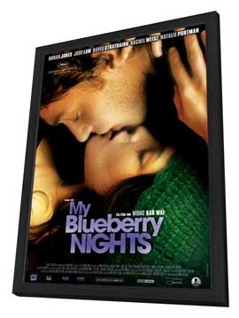 My Blueberry Nights - 27 x 40 Movie Poster - German Style A - in Deluxe Wood Frame