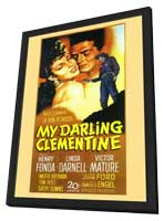 My Darling Clementine - 11 x 17 Movie Poster - Style A - in Deluxe Wood Frame