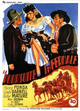 My Darling Clementine - 11 x 17 Movie Poster - French Style A