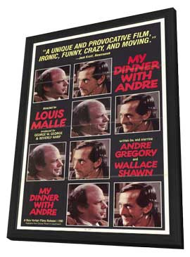 My Dinner with Andre - 11 x 17 Movie Poster - Style A - in Deluxe Wood Frame
