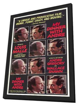 My Dinner with Andre - 27 x 40 Movie Poster - Style A - in Deluxe Wood Frame