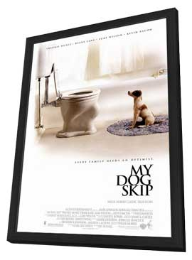 My Dog Skip - 27 x 40 Movie Poster - Style A - in Deluxe Wood Frame