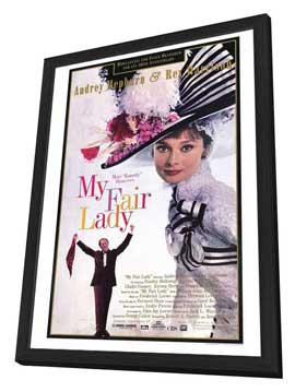 My Fair Lady - 11 x 17 Movie Poster - Style D - in Deluxe Wood Frame