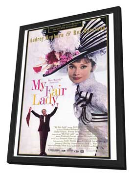 My Fair Lady - 27 x 40 Movie Poster - Style B - in Deluxe Wood Frame