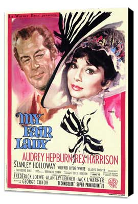 My Fair Lady - 11 x 17 Movie Poster - Style B - Museum Wrapped Canvas