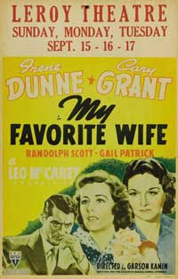 My Favorite Wife - 11 x 17 Movie Poster - Style C