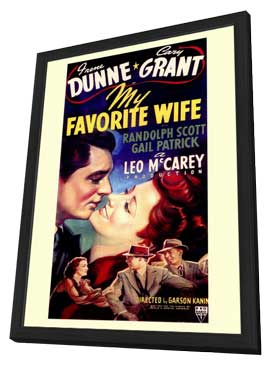 My Favorite Wife - 11 x 17 Movie Poster - Style B - in Deluxe Wood Frame