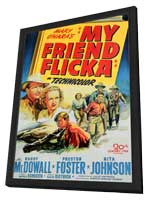 My Friend Flicka - 11 x 17 Movie Poster - Style A - in Deluxe Wood Frame