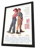 My Girl - 11 x 17 Movie Poster - Style B - in Deluxe Wood Frame