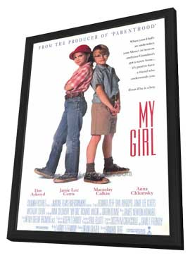 My Girl - 27 x 40 Movie Poster - Style B - in Deluxe Wood Frame