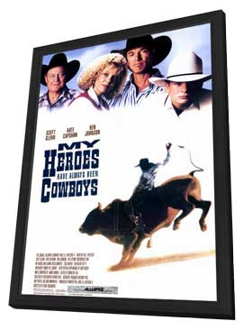 My Heroes Have Always Been Cowboys - 11 x 17 Movie Poster - Style A - in Deluxe Wood Frame
