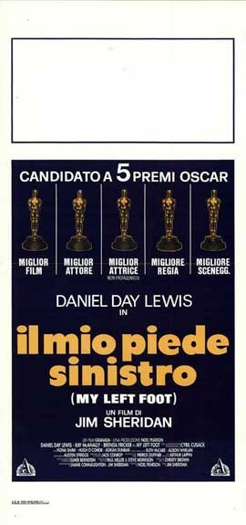 My Left Foot - 13 x 28 Movie Poster - Italian Style A