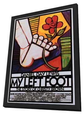 My Left Foot - 11 x 17 Movie Poster - Style C - in Deluxe Wood Frame