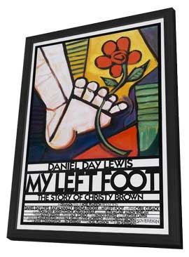 My Left Foot - 27 x 40 Movie Poster - Style B - in Deluxe Wood Frame