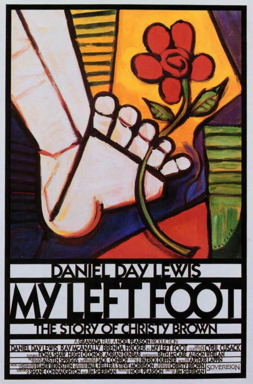 my left foot Born with cerebral palsy, christy brown has his entire body in revolt against him,  except his left foot with that foot he learned to paint and essentially.