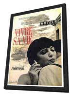 My Life to Live - 27 x 40 Movie Poster - Foreign - Style A - in Deluxe Wood Frame