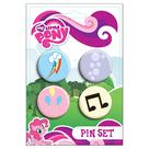 My Little Pony - Cutie Mark Pin Set 4-Pack