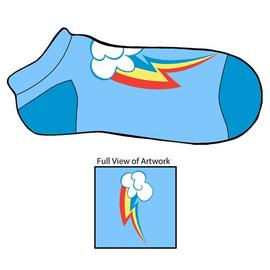 My Little Pony - Rainbow Dash Cutie Mark Footies Slipper Socks
