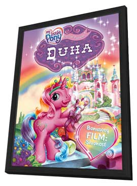 My Little Pony: The Runaway Rainbow - 11 x 17 Movie Poster - Czchecoslovakian Style A - in Deluxe Wood Frame