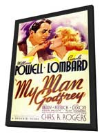 My Man Godfrey - 27 x 40 Movie Poster - Style A - in Deluxe Wood Frame