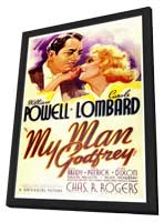 My Man Godfrey - 11 x 17 Movie Poster - Style A - in Deluxe Wood Frame