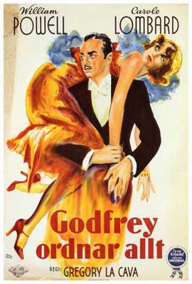 My Man Godfrey - 27 x 40 Movie Poster - Foreign - Style A