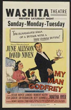 My Man Godfrey - 27 x 40 Movie Poster - Style C