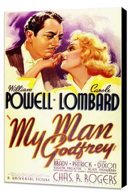 My Man Godfrey - 27 x 40 Movie Poster - Style A - Museum Wrapped Canvas