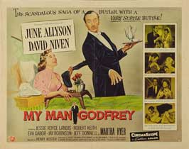 My Man Godfrey - 22 x 28 Movie Poster - Half Sheet Style A