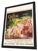 My Mother's Castle - 11 x 17 Movie Poster - Belgian Style A - in Deluxe Wood Frame