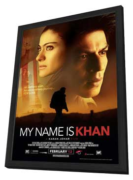 My Name Is Khan - 27 x 40 Movie Poster - Style A - in Deluxe Wood Frame
