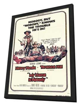 My Name Is Nobody - 27 x 40 Movie Poster - Style A - in Deluxe Wood Frame