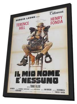 My Name Is Nobody - 27 x 40 Movie Poster - Italian Style A - in Deluxe Wood Frame