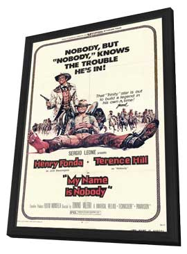 My Name Is Nobody - 11 x 17 Movie Poster - Style A - in Deluxe Wood Frame