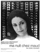 My Night at Maud's - 11 x 17 Movie Poster - French Style A